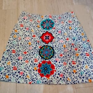 Boden Floral Print Skirt